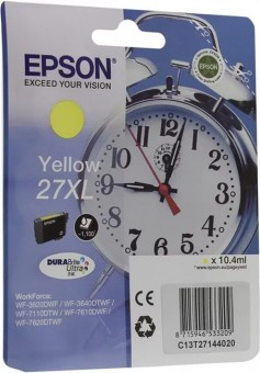 EPSON C13T27144020 Singlepack Yellow 27XL DURABrite Ultra Ink for WF7110/7610/7620 (cons ink)