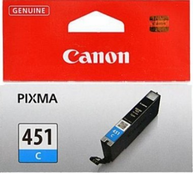 6524B001 Canon CLI-451C Картридж для PIXMA iP7240/MG6340/MG5440, Голубой, 332стр.