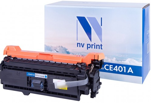 Картридж NV Print CE401A Cyan для принтеров HP CLJ Color M551 (6000k)