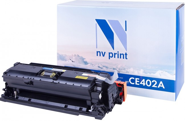 Картридж NV Print CE402A Yellow для принтеров HP CLJ Color M551 (6000k)