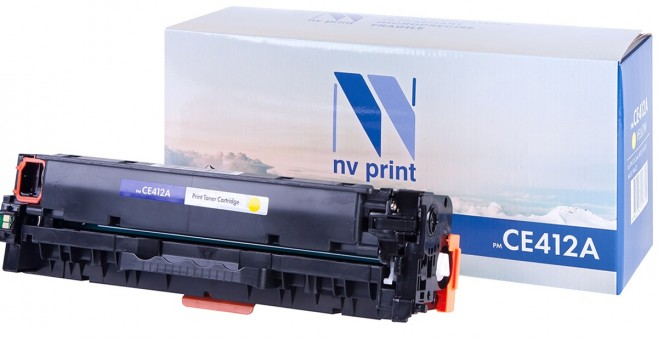 Картридж NV Print CE412A Yellow для принтеров HP CLJ Color M351/ M375/ M451/ M475 (2600k)