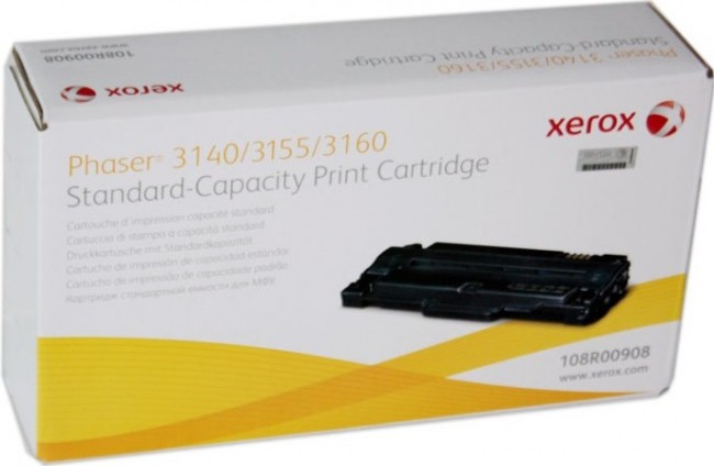 Картридж Xerox 108R00908 для Xerox Phaser 3140/3155/3160 black оригинальный увеличенный (1500 страниц)