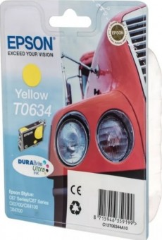 EPSON C13T06344A10 Картридж для   C67/87/CX3700/4100/4700 Yellow Ink Cartridge (cons ink)