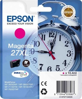 C13T27134020 Картридж Epson Singlepack Magenta 27XL DURABrite Ultra Ink for WF7110/7610/7620 (cons ink)
